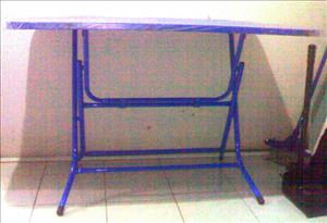 Blue Metal folding table